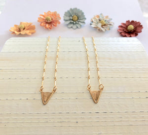 24k Vermeil Tiny Deluxe Shield Necklaces