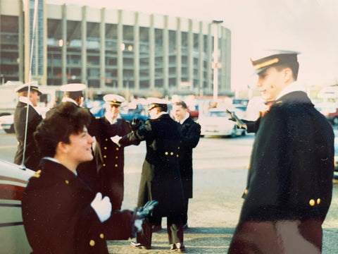 Margaret as a midshipman