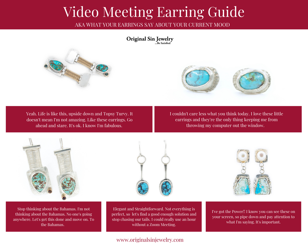 Original Sin Jewelry's Earring Guide for Video Meetings