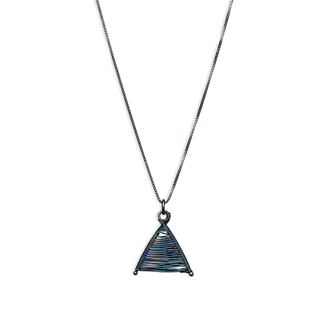 Woven Wishbone Necklace Oxidized Silver by Original Sin Jewelry