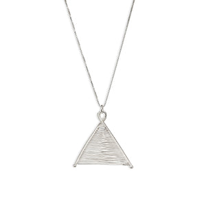 Wishbone Woven Silver Pendant and Silver Necklace by Original Sin Jewelry in Tucson Arizona