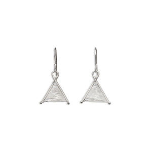 Original Sin Jewelry's Woven Silver Wishbone Tiny Dangle Earrings