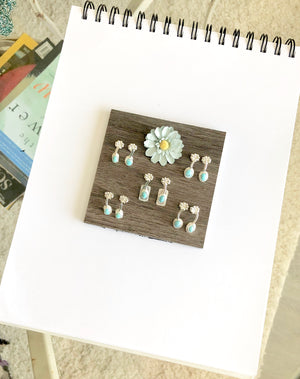 Bisbee Turquoise Sprouts Earrings Group