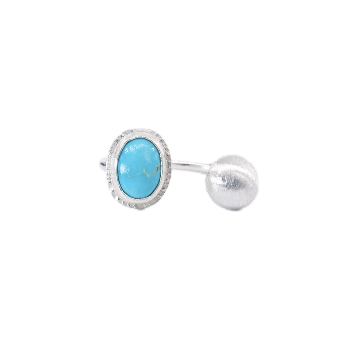 Royston Turquoise Open Ring in Silver by Original Sin Jewelry