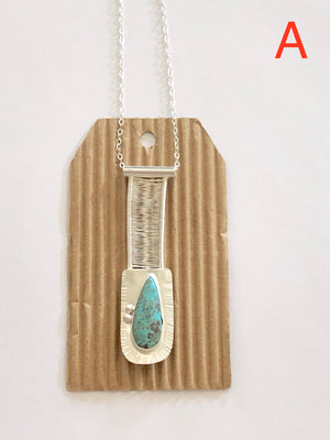 Nevada Turquoise Bridge Pendant A