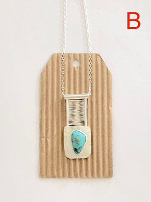 Nevada Turquoise Bridge Pendant B