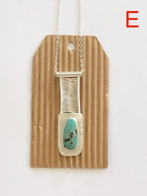 Nevada Turquoise Bridge Pendant E