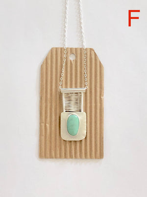 Nevada Turquoise Bridge Pendant F