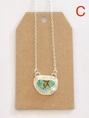 Pilot Mountain Mine Turquoise Balance Necklace C