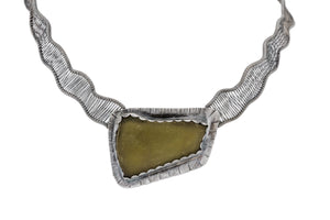 Olive Sea Glass Necklace by Original Sin Jewelry