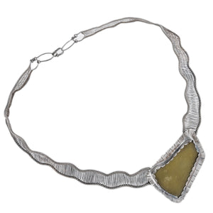 Woven Oxidized Green Necklace by OSJ