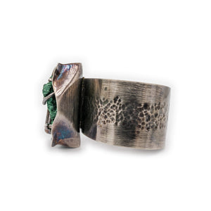 Dry River Bed Texture Oxidized Silver Cuff by OSJ