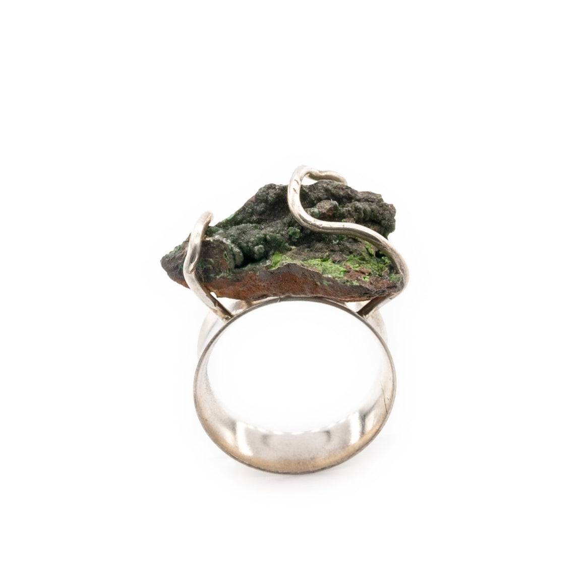 Conichalcite Specimen Silver Ring by Original Sin Jewelry