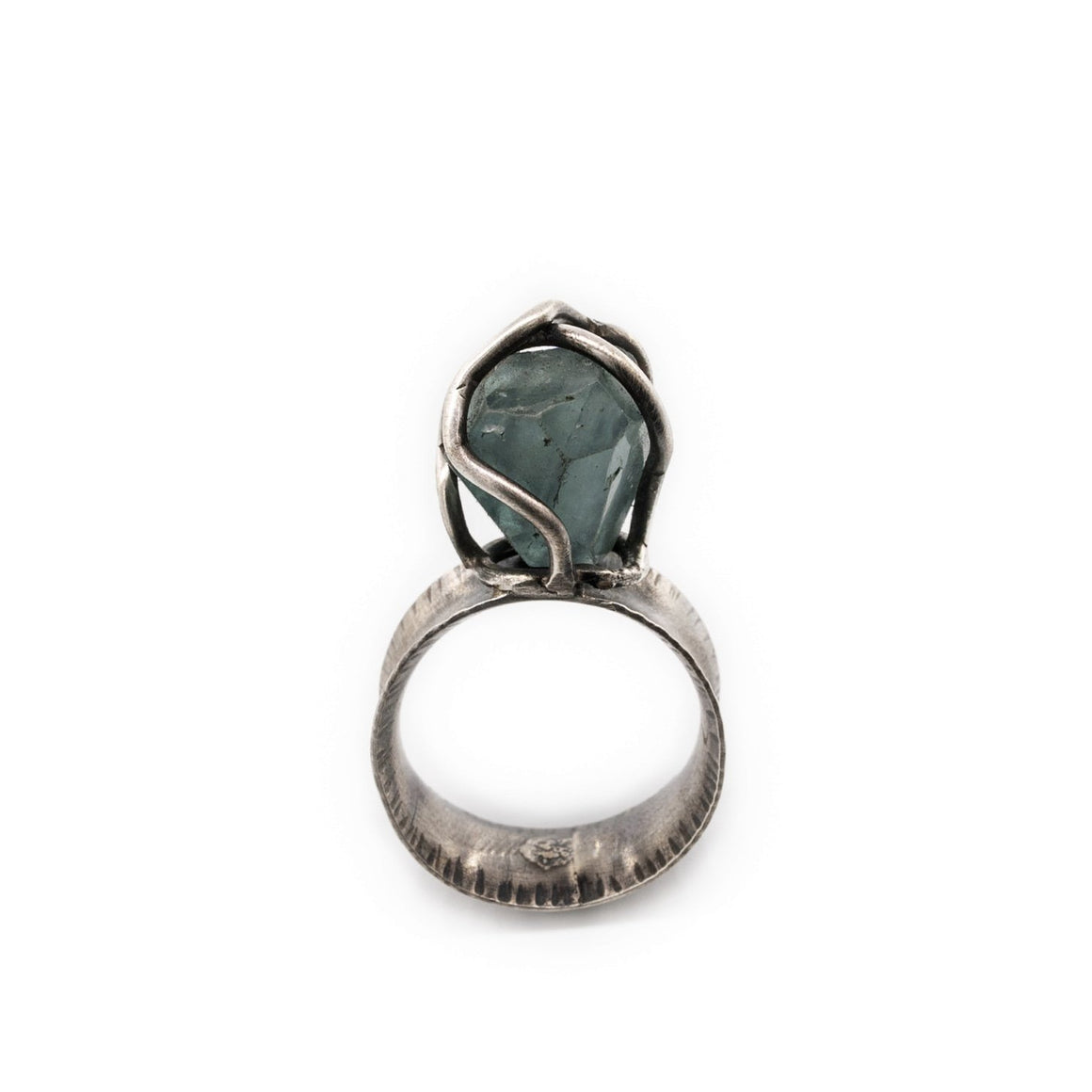 Original Sin Jewelry Fluorite Oxidized Silver Ring