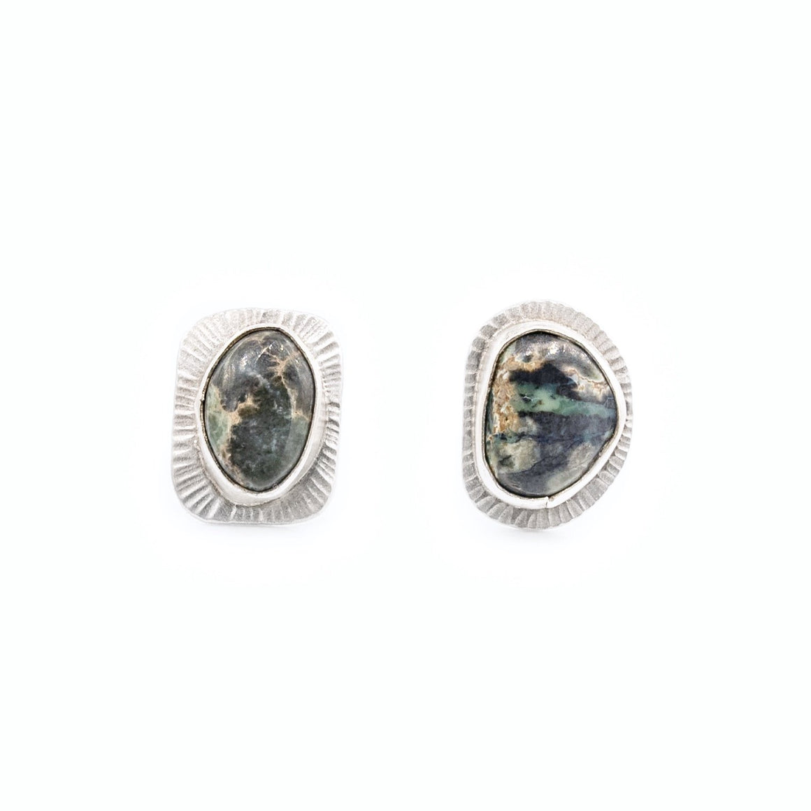 Damele Turquoise Silver Stud Earrings by Original Sin Jewelry