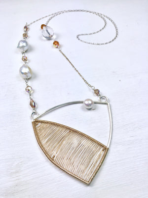 Beatrice - Mixed Metals Woven Necklace