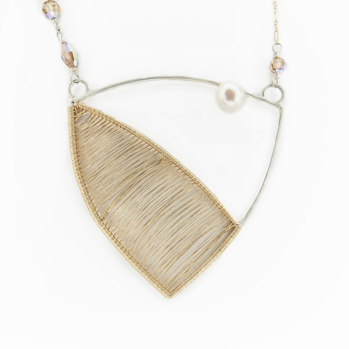 Beatrice - Mixed Metals Woven Necklace - Original Sin Jewelry