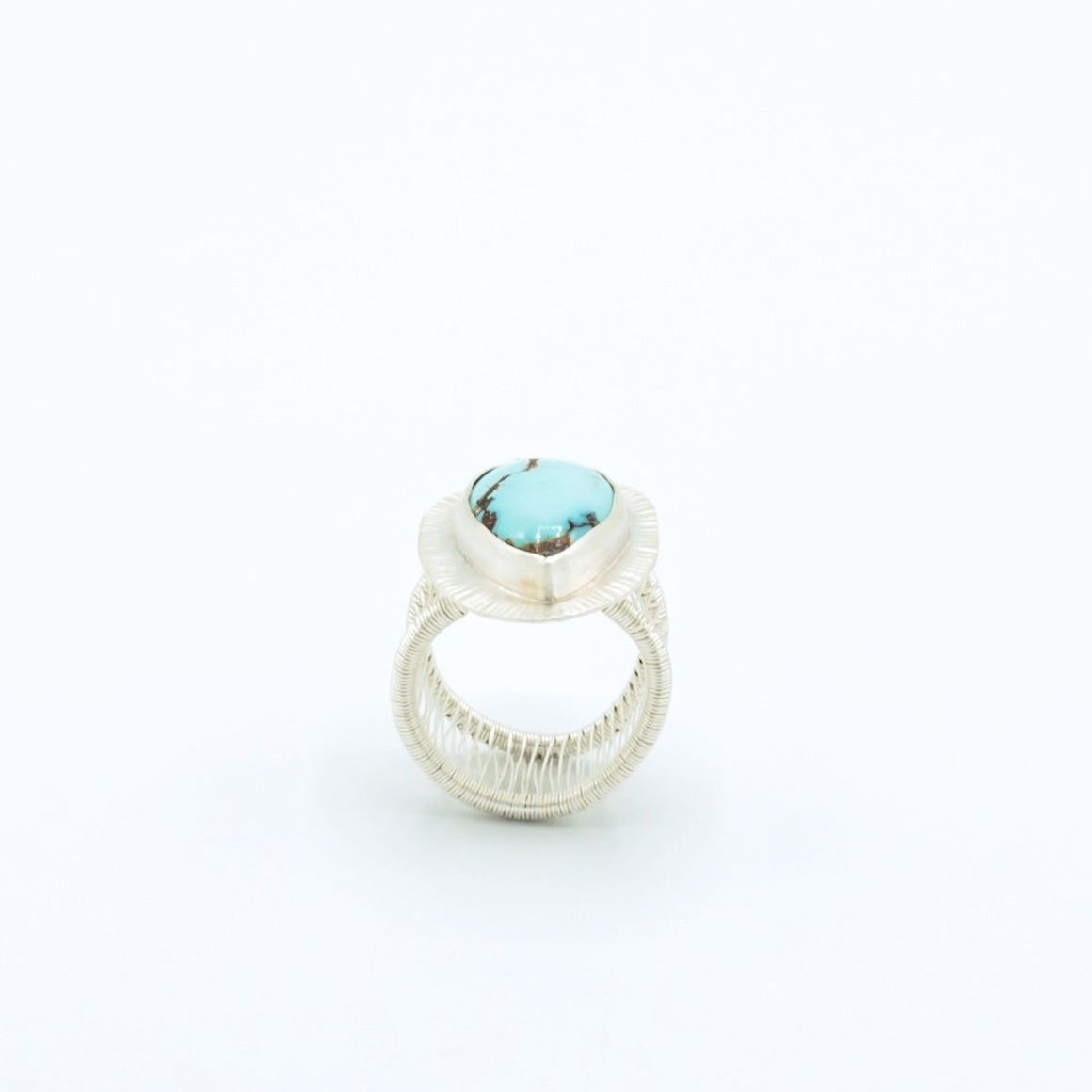 Bethanie - Royston Turquoise Woven Band Ring - Original Sin Jewelry