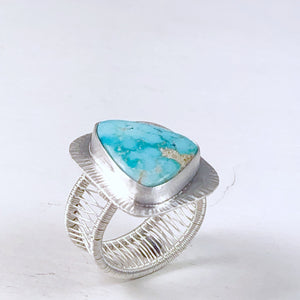 Bailey - Turquoise Mountain Woven Band Ring - Original Sin Jewelry