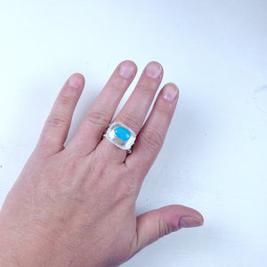 Blair - Royston Turquoise Woven Nest Ring