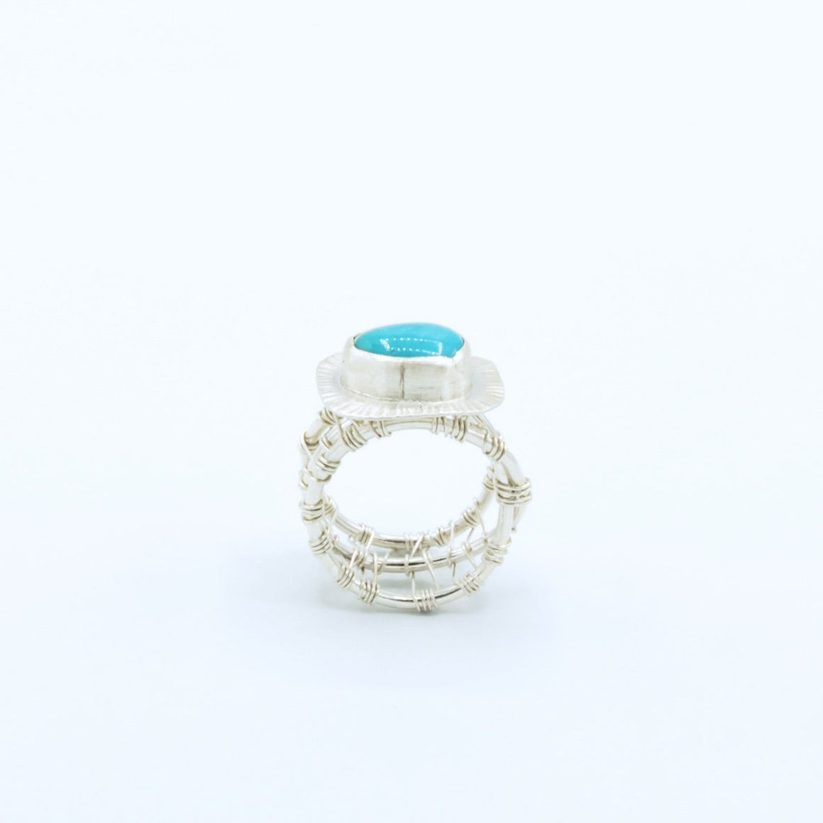 Blair - Royston Turquoise Woven Nest Ring - Original Sin Jewelry