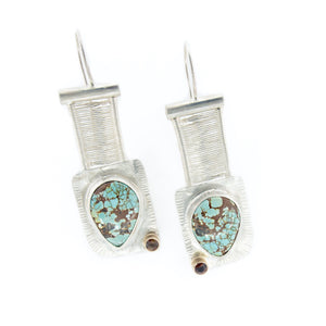 Blythe - #8 Turquoise Woven Bridge Earrings