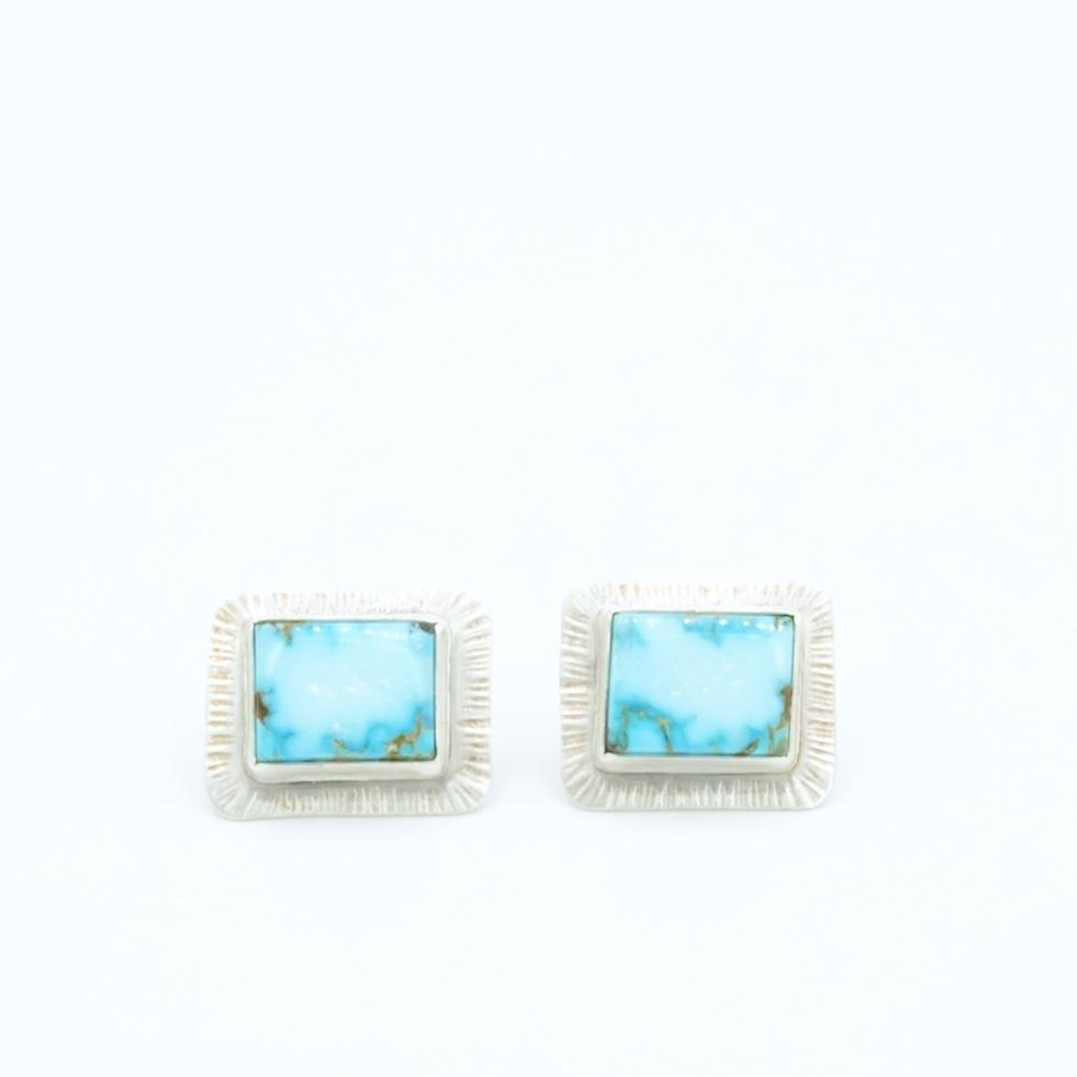 Bo - Turquoise Mountain Silver Cuff Links