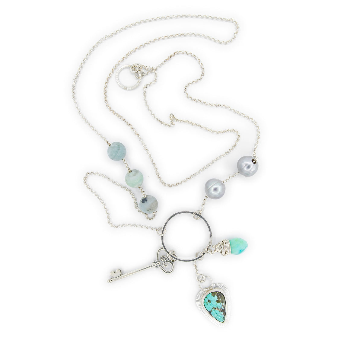 Turquoise Charm Necklace by Original Sin Jewelry