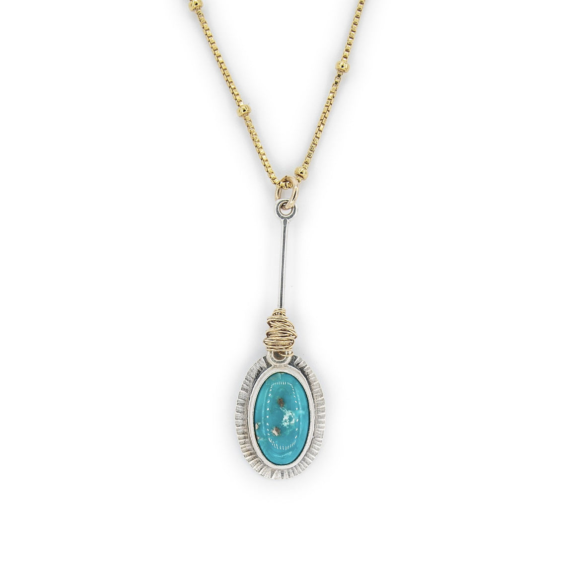 Ithaca Peak Turquoise Necklace by Original Sin Jewelry