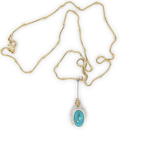 Turquoise Pendulum Necklace by OSJ