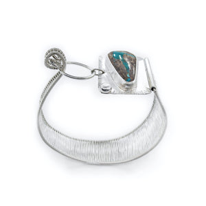 Pilot Mountain Turquoise Woven Cuff by Original Sin Jewelry
