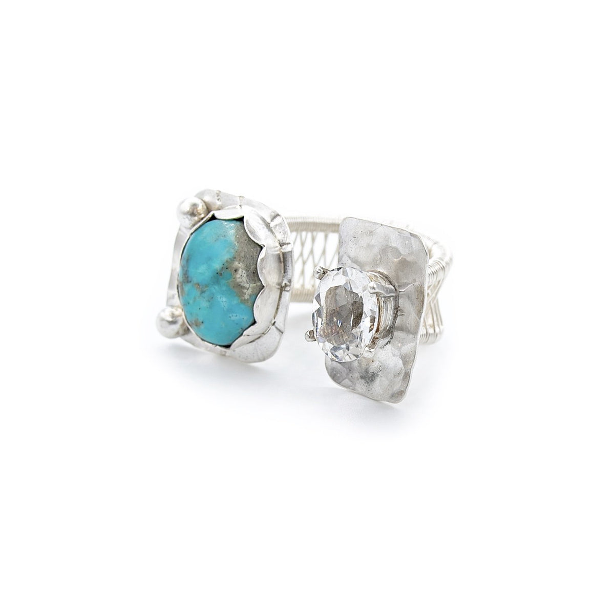 Turquoise and Topaz Ring by Original Sin Jewelry