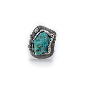 Size 5 Turquoise Nugget Ring by OSJ
