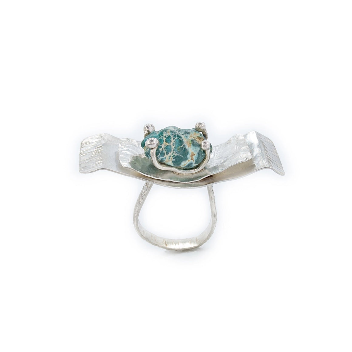 Turquoise Nugget Butterfly Wing Ring by Original Sin Jewelry