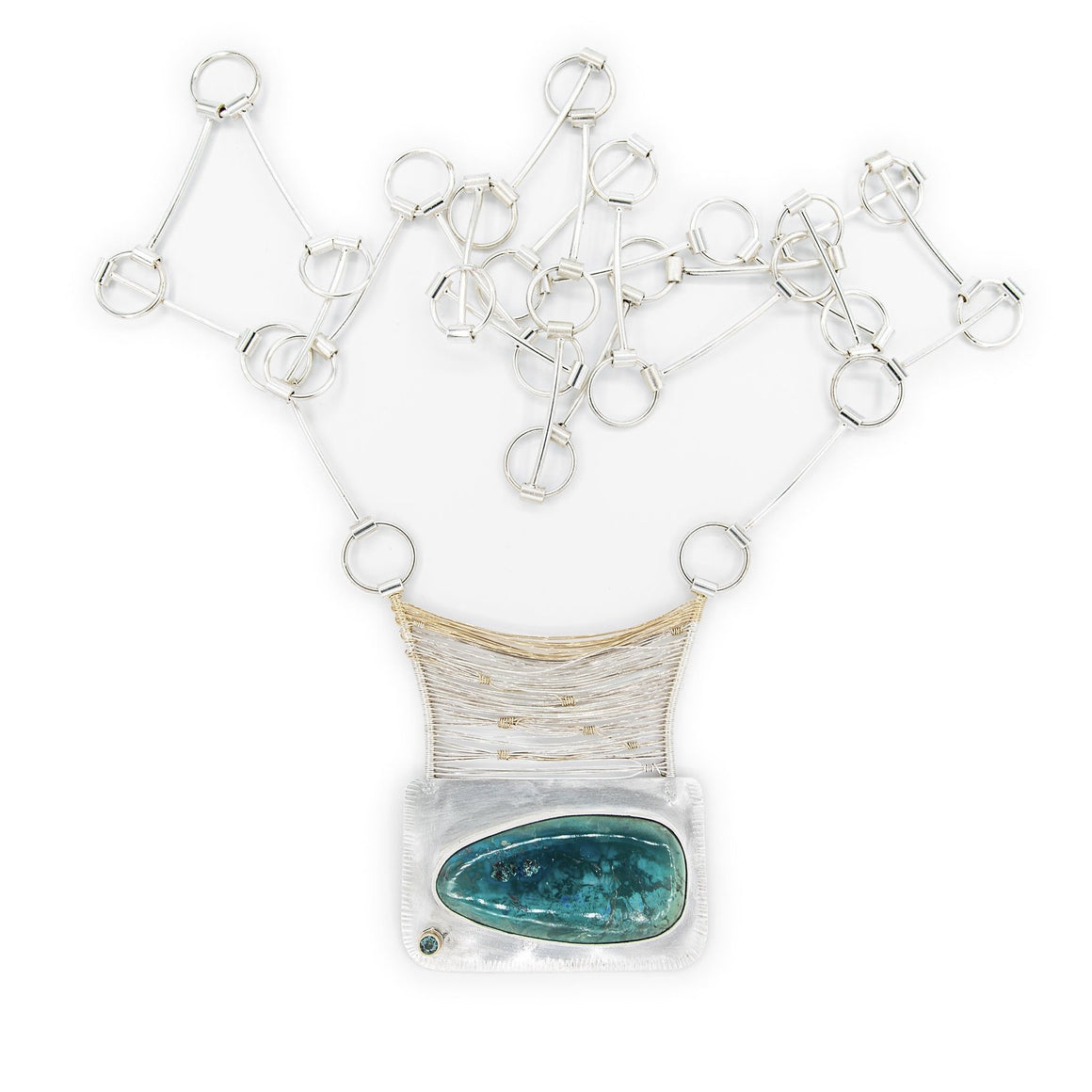 Chrysocolla Bridge Long Necklace by Original Sin Jewelry