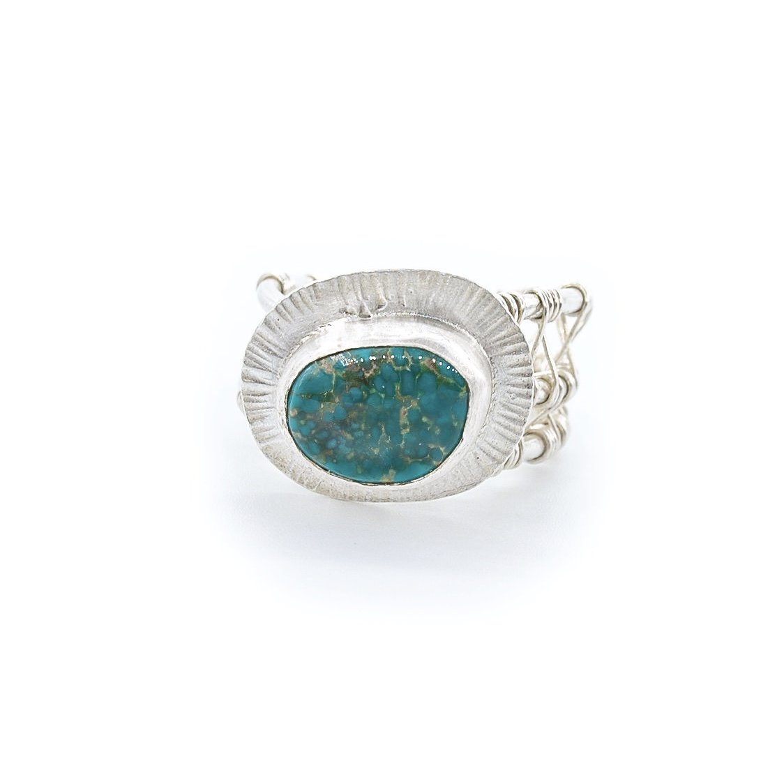 Pilot Mountain Turquoise Ring in Silver by Original Sin Jewelry