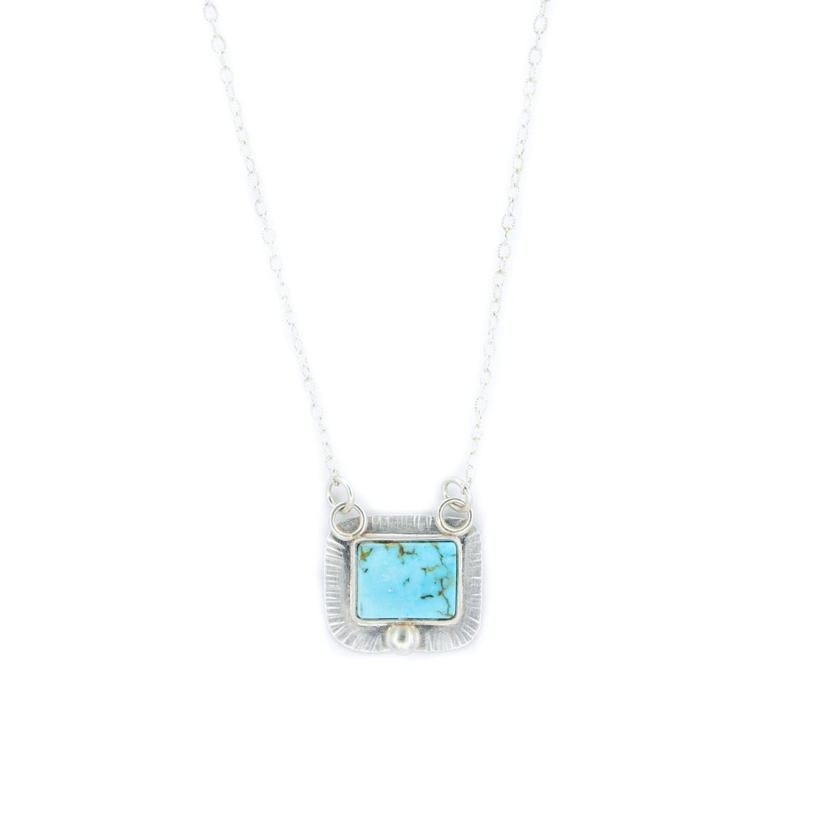Arizona Turquoise and Silver Necklace by OSJ
