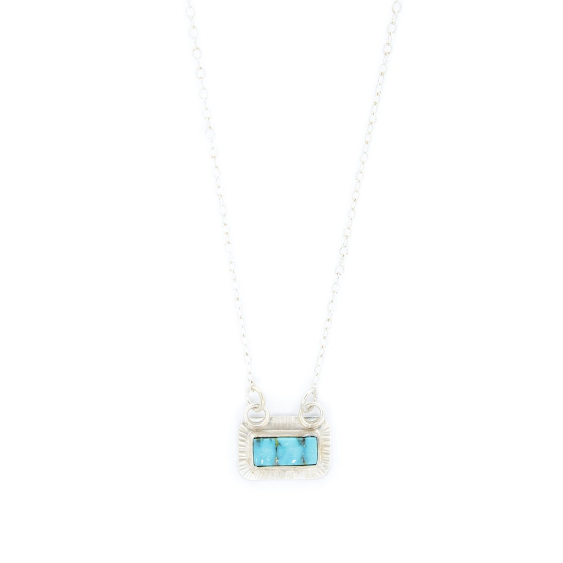 Silver and Turquoise Mountain Necklace by Original Sin Jewelry