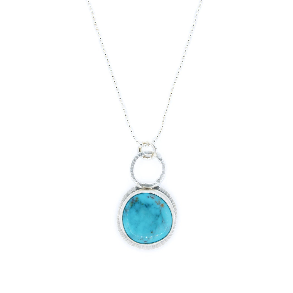 Turquoise and Silver Pendant by Original Sin Jewelry