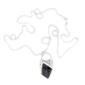 Silver and Black Druze Necklace by Original Sin Jewelry