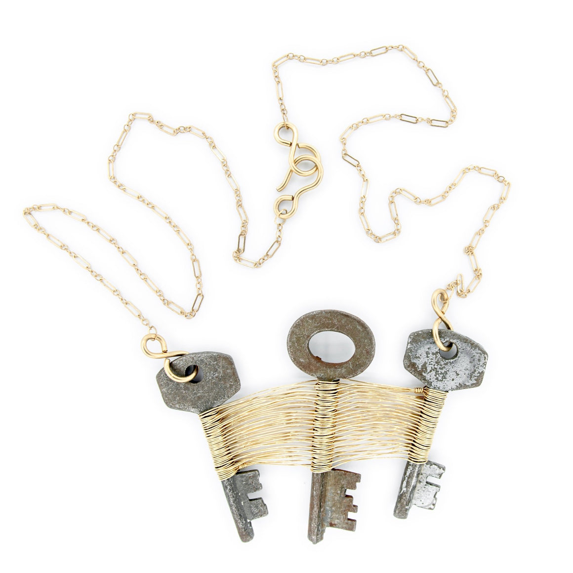 Skeleton Key and 14k Gold Necklace by Original Sin Jewelry