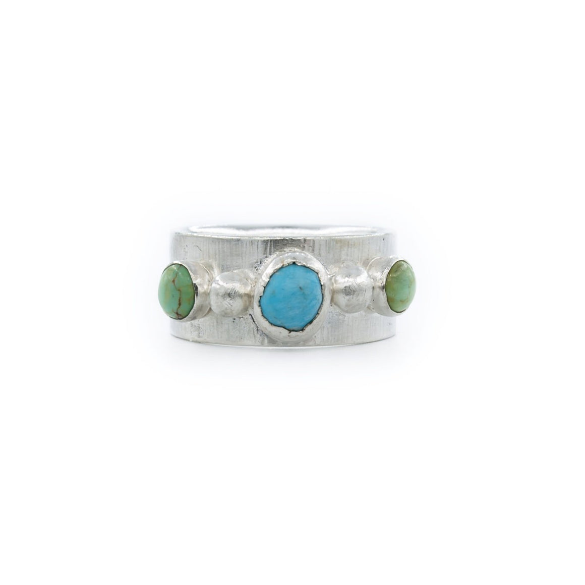 Blue and Green Turquoise Wedding Band Style Ring by OSJ