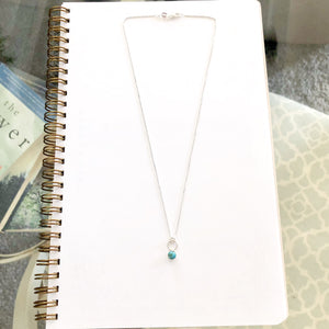 5mm Turquoise Drop Necklace by OSJ