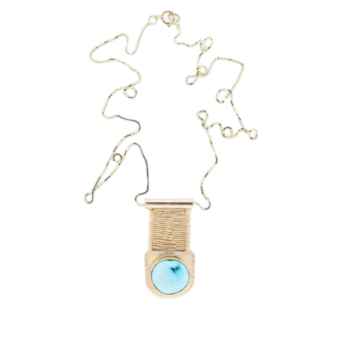 14k Gold Necklace with Turquoise by Original Sin Jewelry