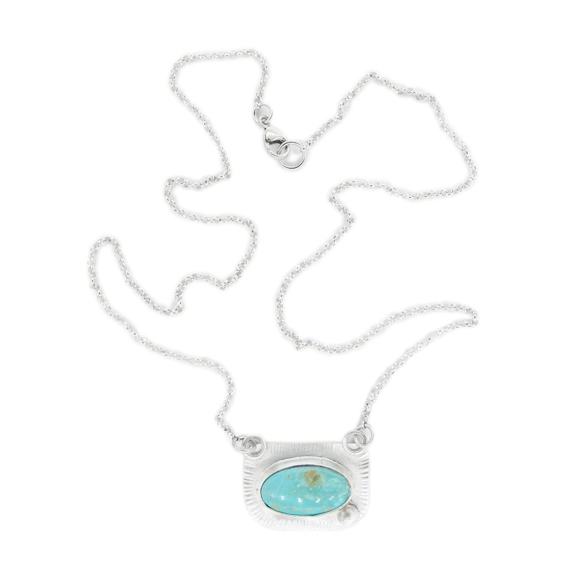 Silver Necklace with Turquoise by Original Sin Jewelry