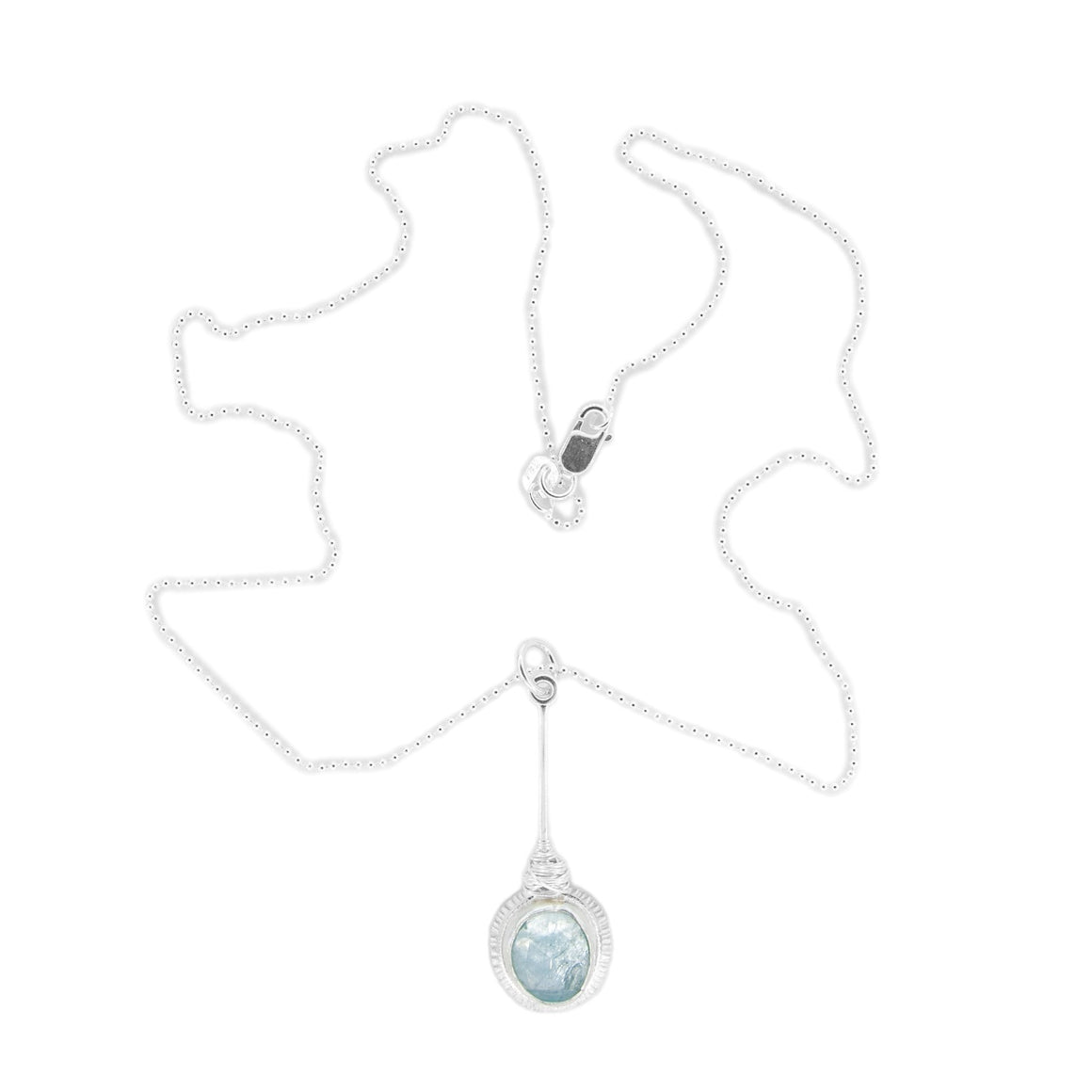 Aquamarine Silver Necklace by Original Sin Jewelry