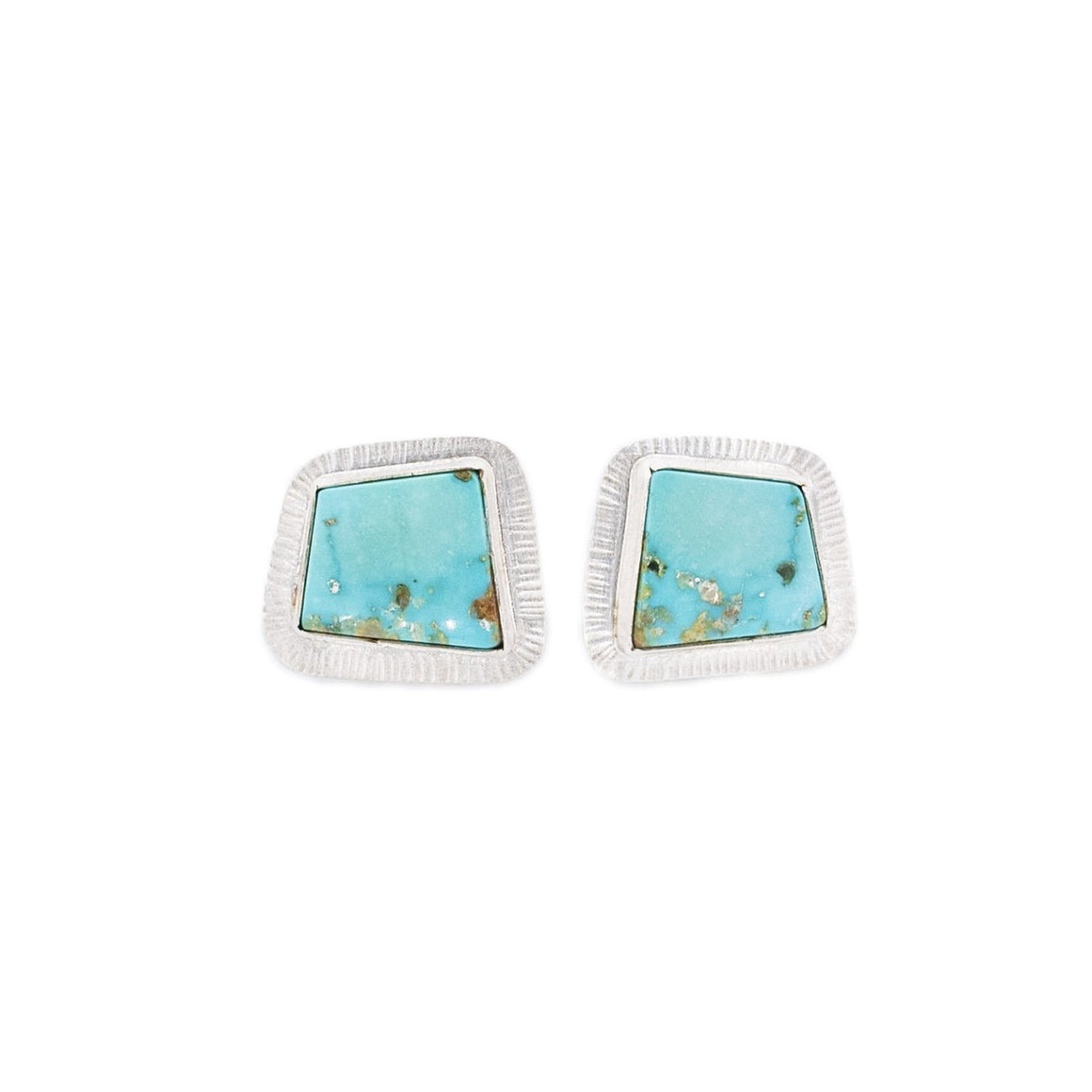 Turquoise and Silver Cuff Links by Original Sin Jewerly