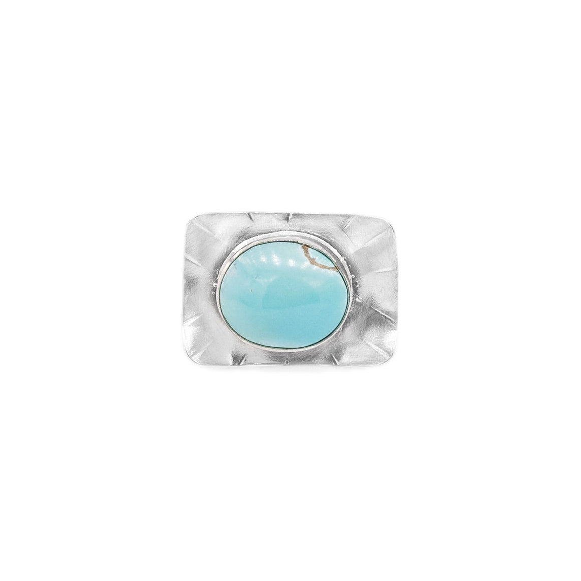 Sleeping Beauty Turquoise and Silver Ring by Original Sin Jewelry