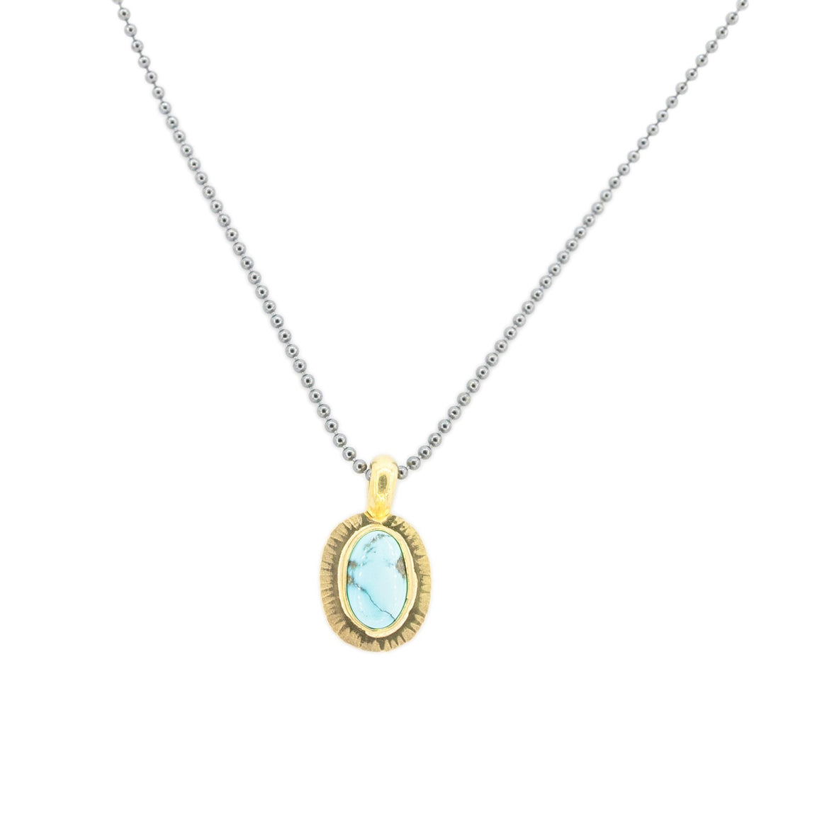 Blue Moon Turquoise set in 18k Gold by Original Sin Jewelry