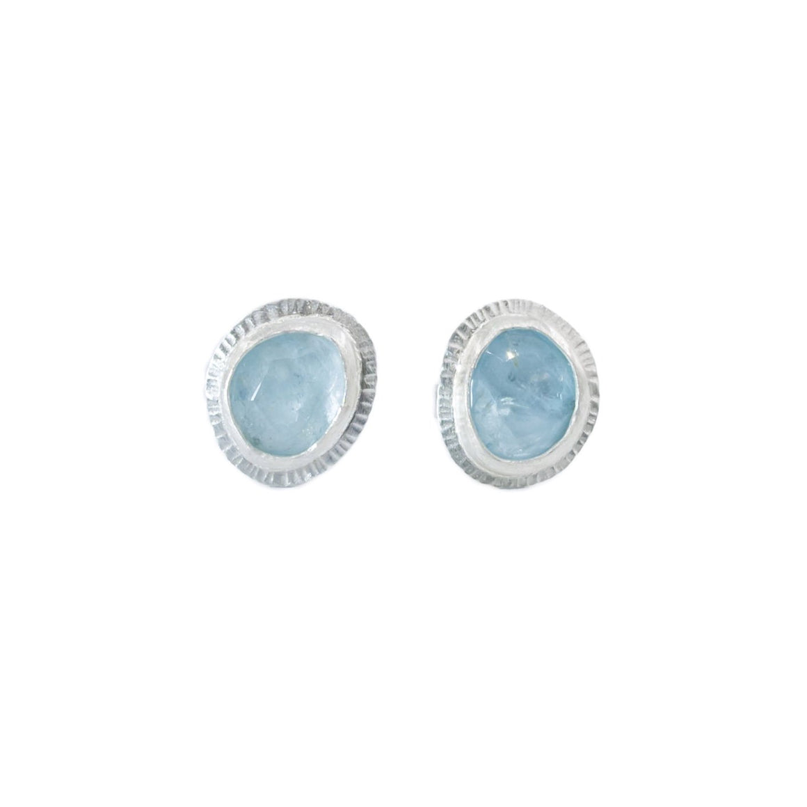 Small Aquamarine Stud Earrings by Original Sin Jewelry